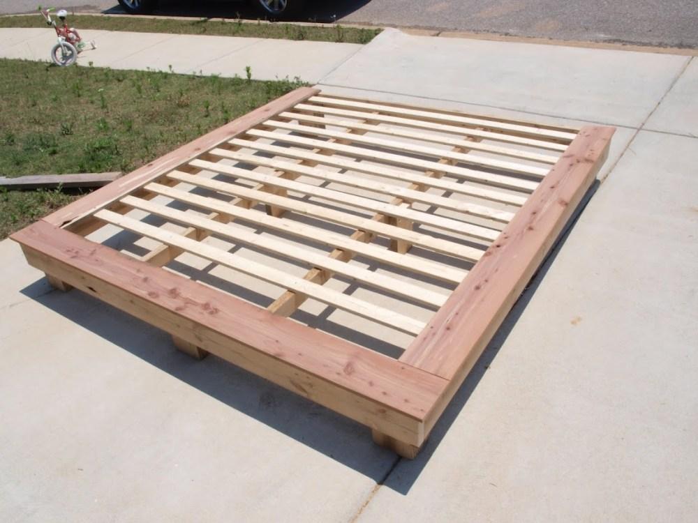 King Size Bed Frame Plans Platform