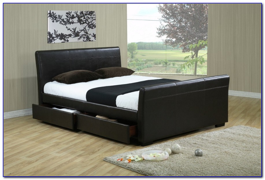 King Size Bed Frame With Storage Uk
