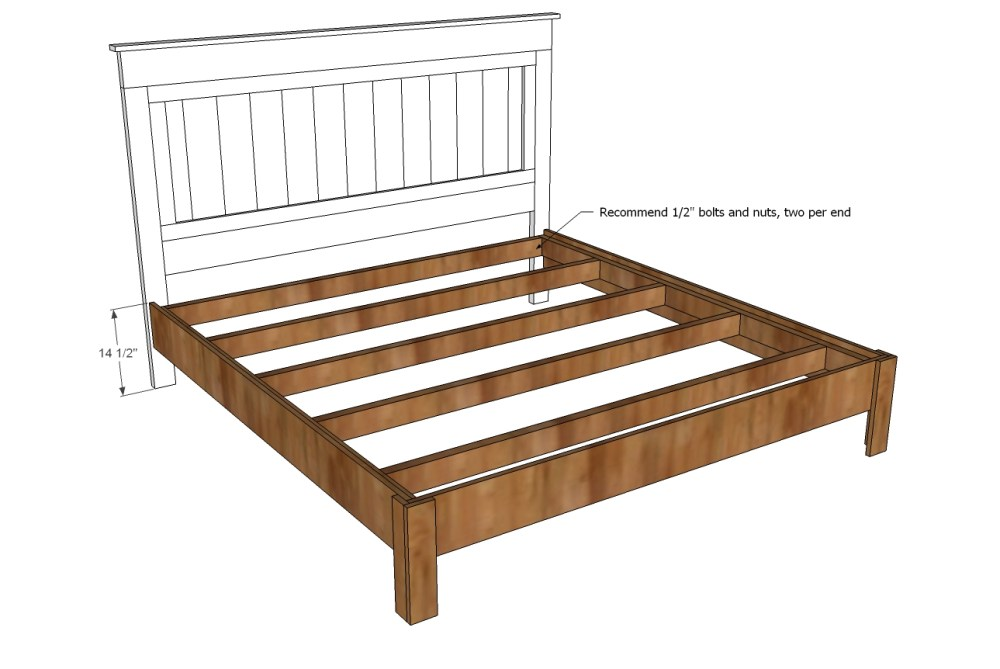 King Size Bed Frame Wood