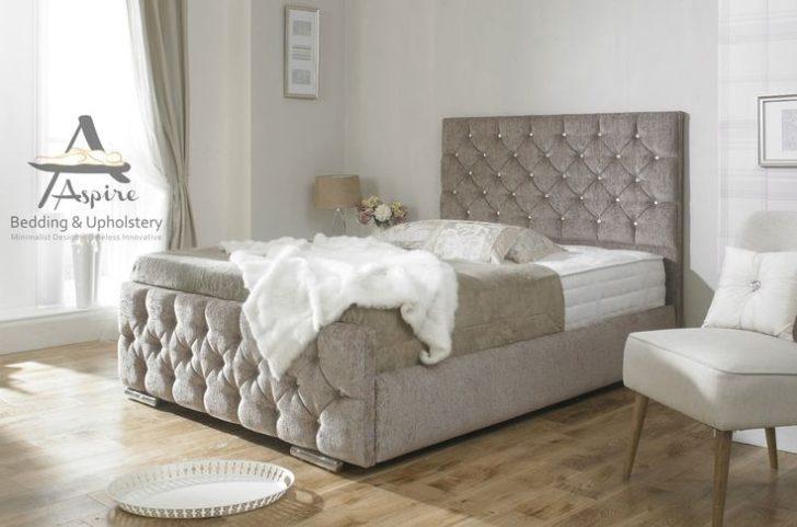 King Size Upholstered Bed Frame