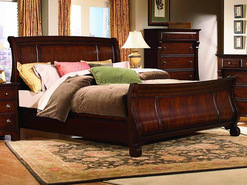 King Sleigh Bed Frame