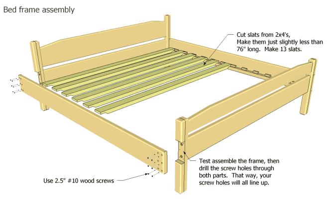 King Wood Bed Frame Plans