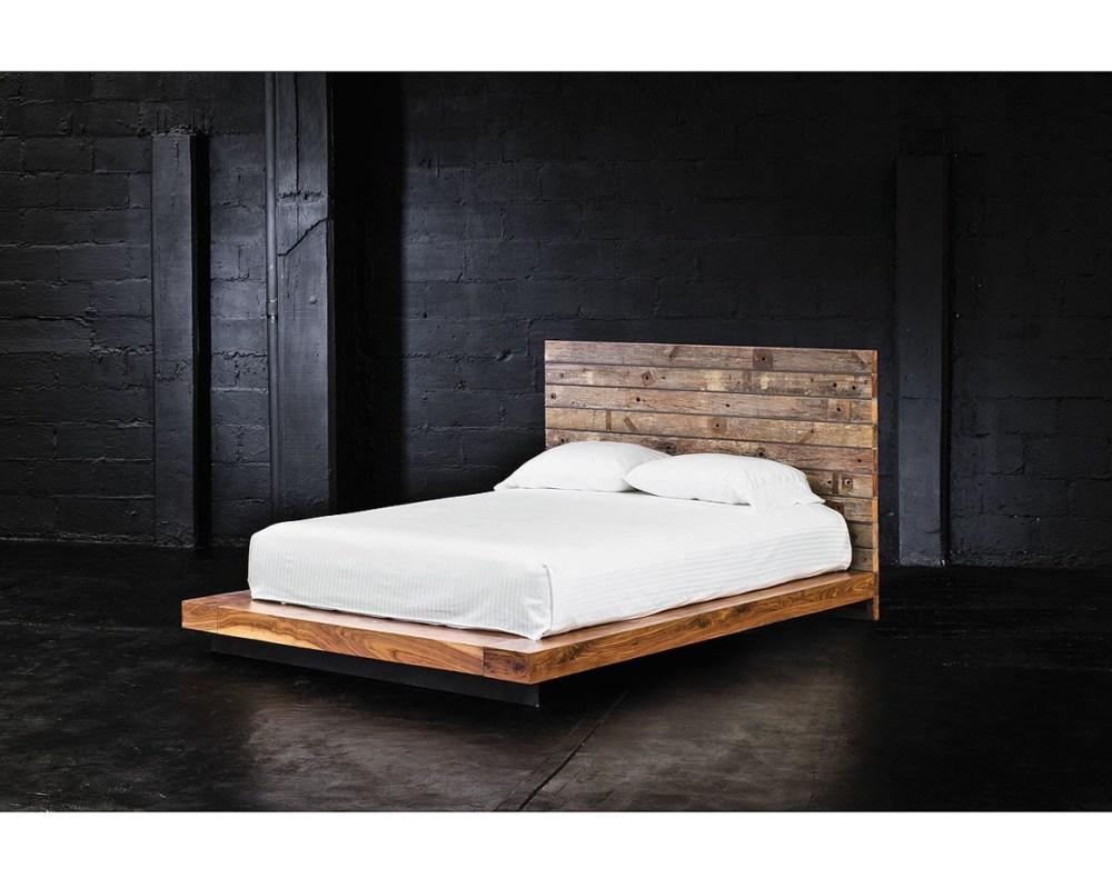 King Wood Platform Bed Frame