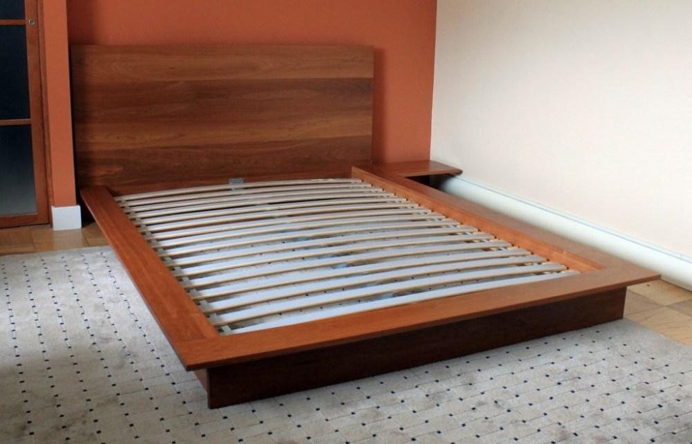 King Wood Slat Bed Frame