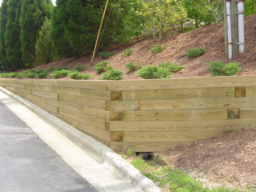 Landscape Timber Retaining Wall Ideas