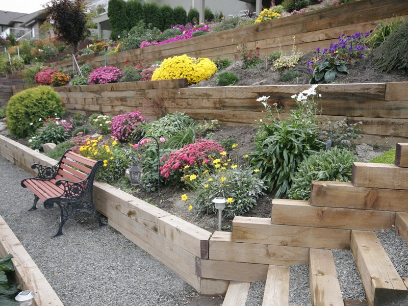 Landscape Timber Wall Ideas