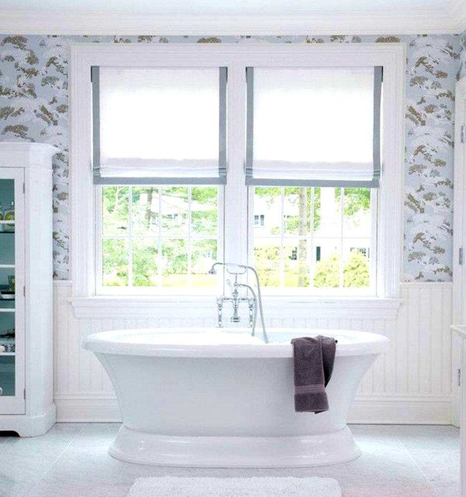 Large Bathroom Window Treatment Ideas