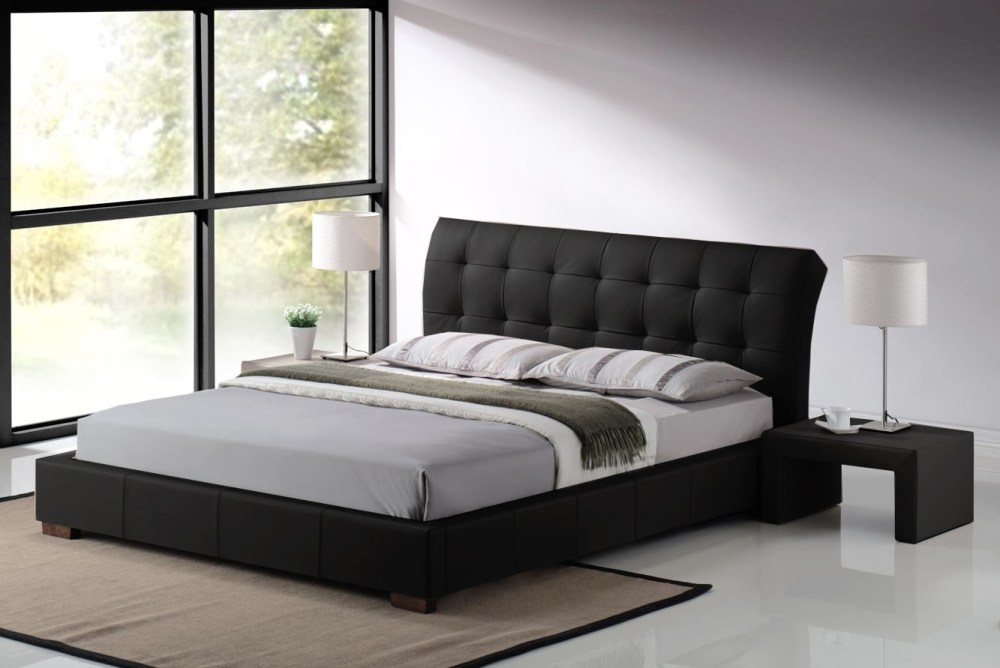Leather Upholstered King Bed Frame