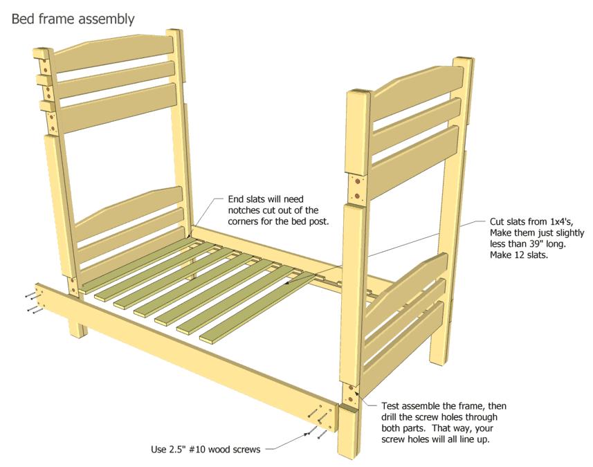 Loft Bed Frame Plans