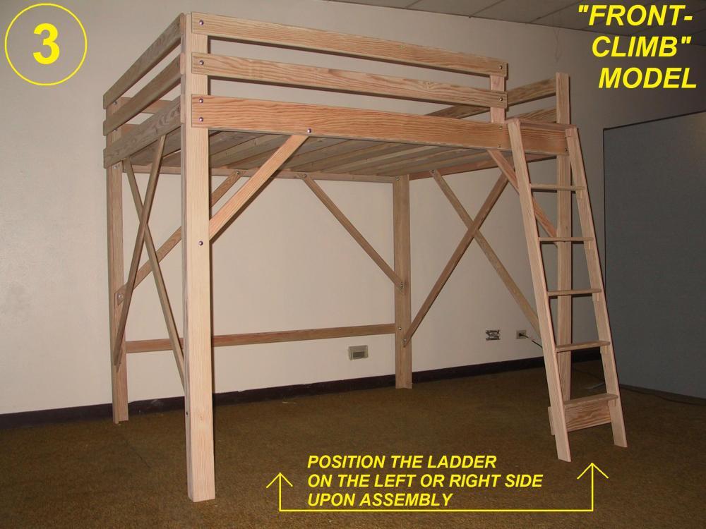 Loft Bed Frame White