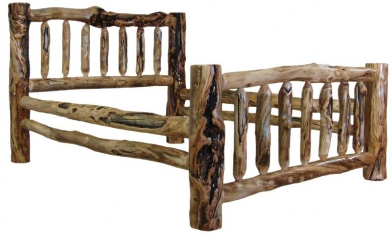 Log Bed Frame King