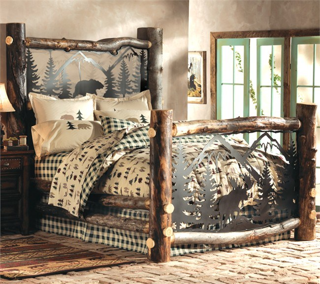 Log Bed Frames King