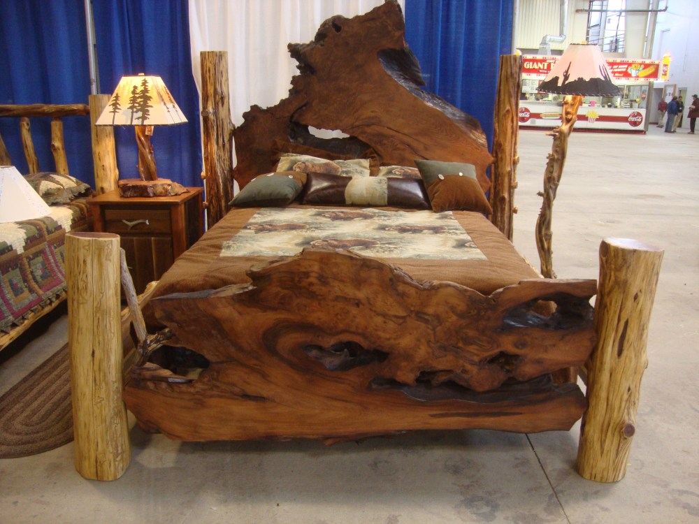Log Bed Frames Queen