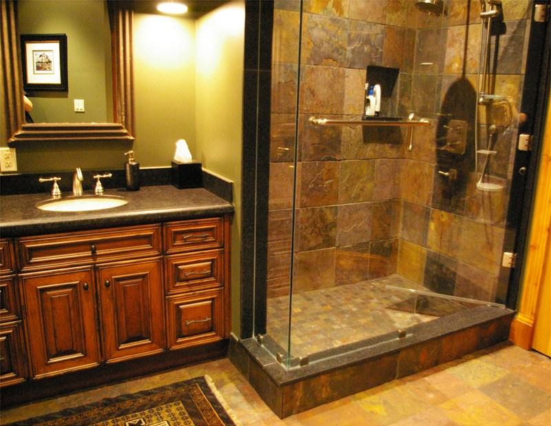 Log Cabin Bathroom Ideas