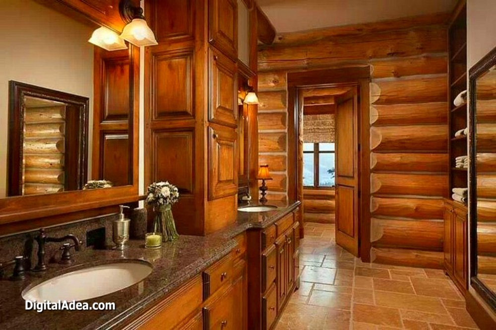 Log Cabin Master Bathroom Ideas