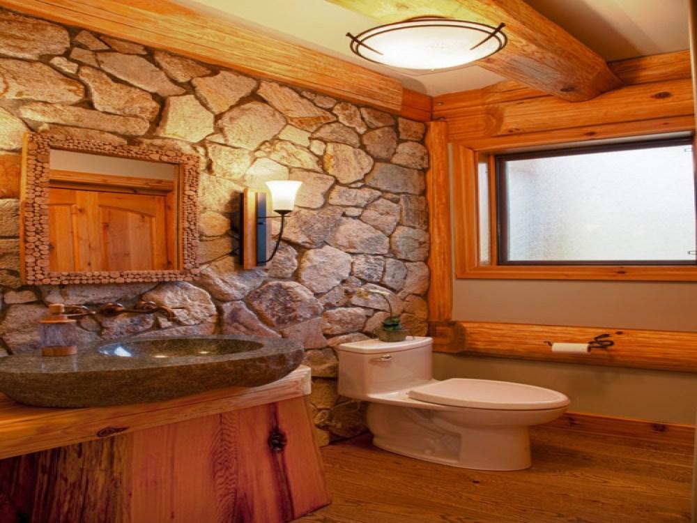 Log Cabin Small Bathroom Ideas