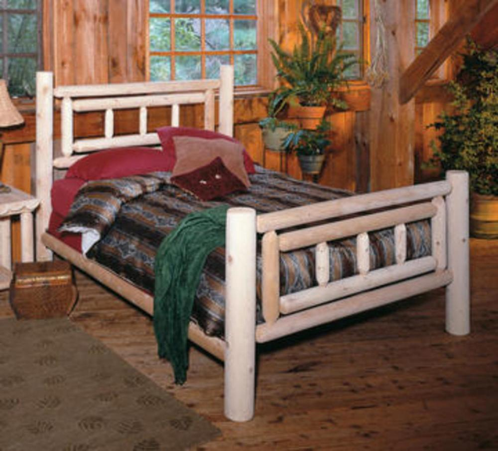 Log Style Queen Bed Frame