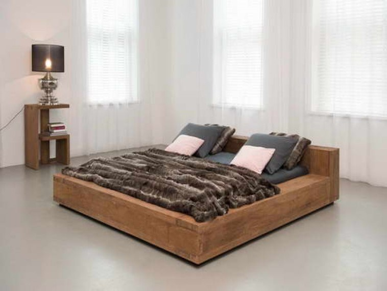 Low Profile Wood King Bed Frame