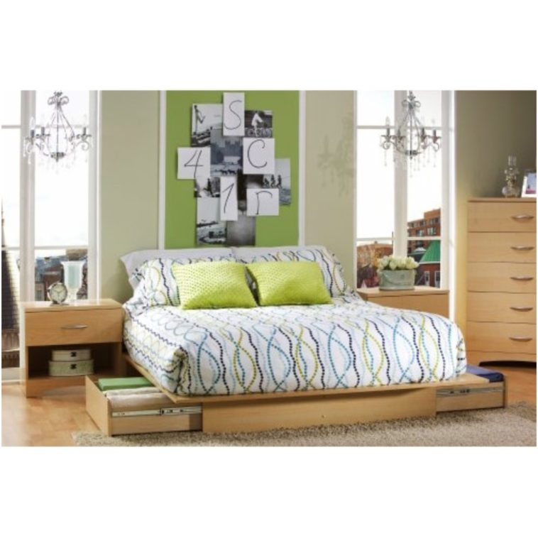 Low Queen Bed Frame With Storage