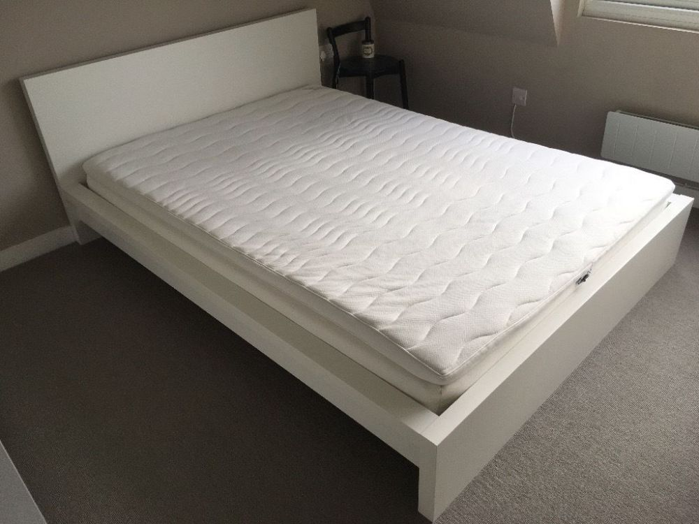 Malm Low Bed Frame White