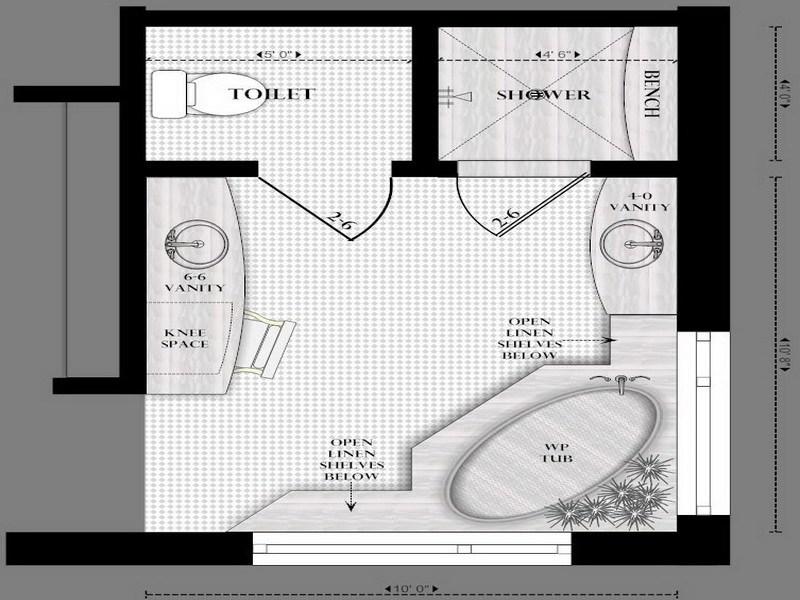 Master Bathroom Layout Designs