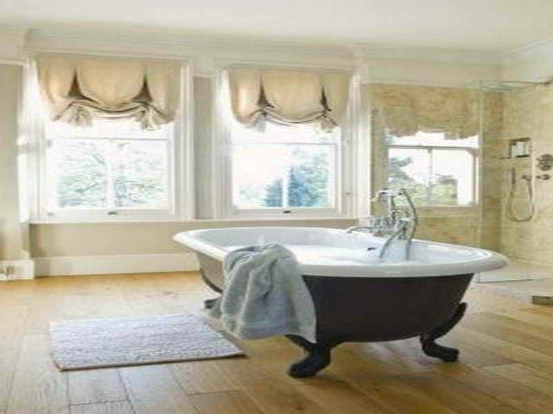 Master Bathroom Window Treatment Ideas