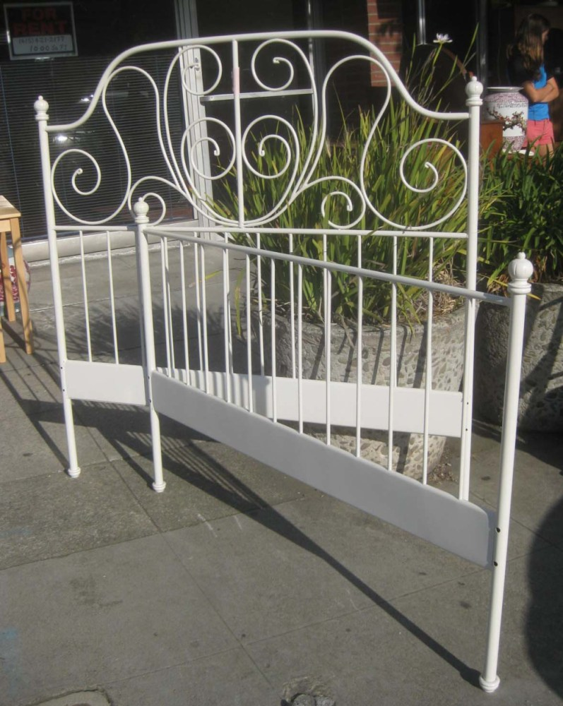 Metal Bed Frame Full White