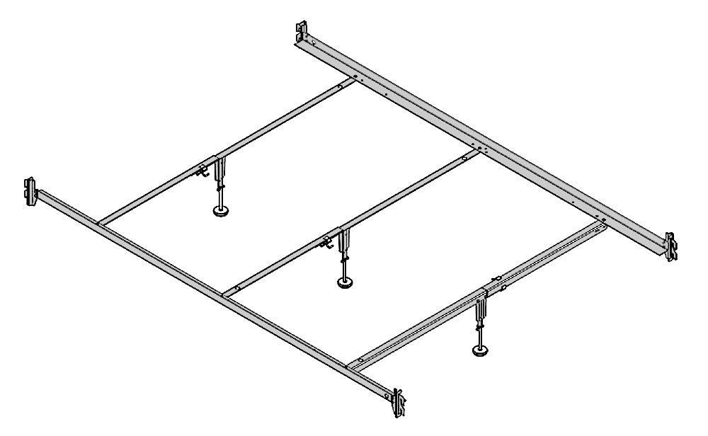 Metal Bed Frame With Hooks
