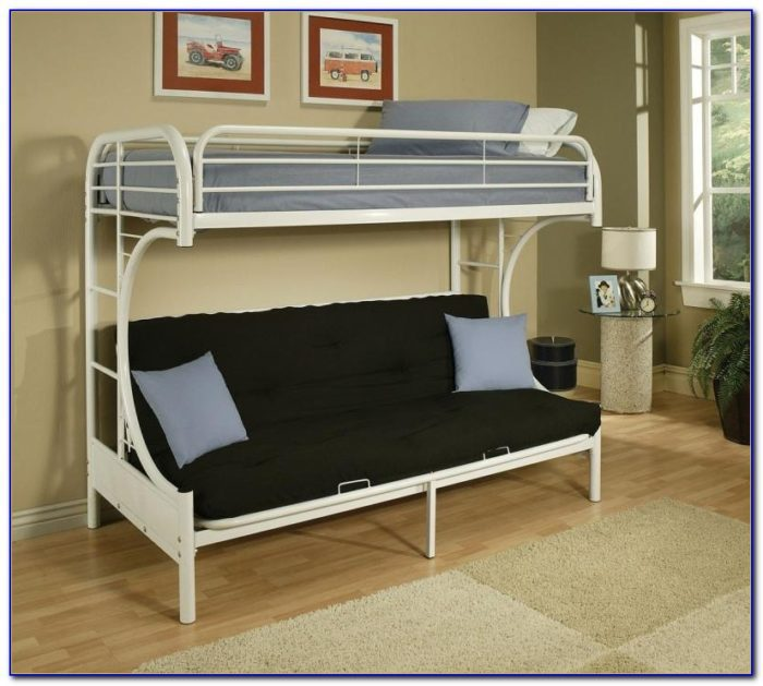Metal Bunk Bed Frame With Futon Instructions