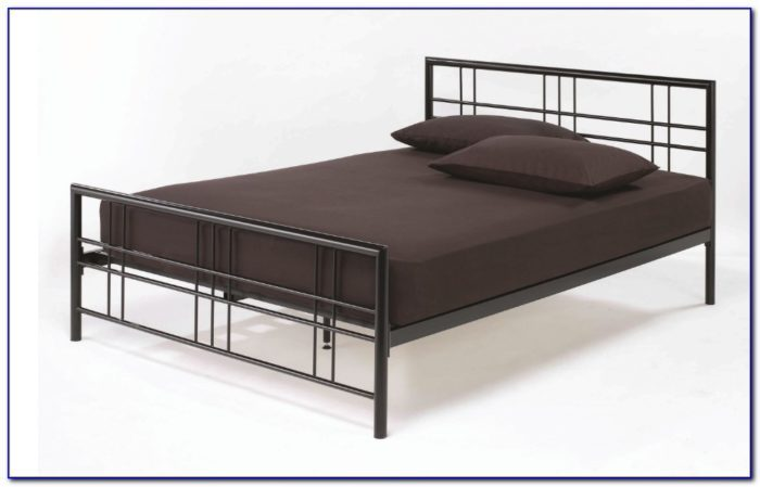 Metal Bunk Bed Frame With Futon Silver And Blue