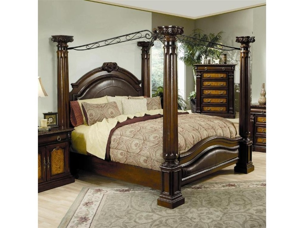 Metal Canopy Bed Frame King