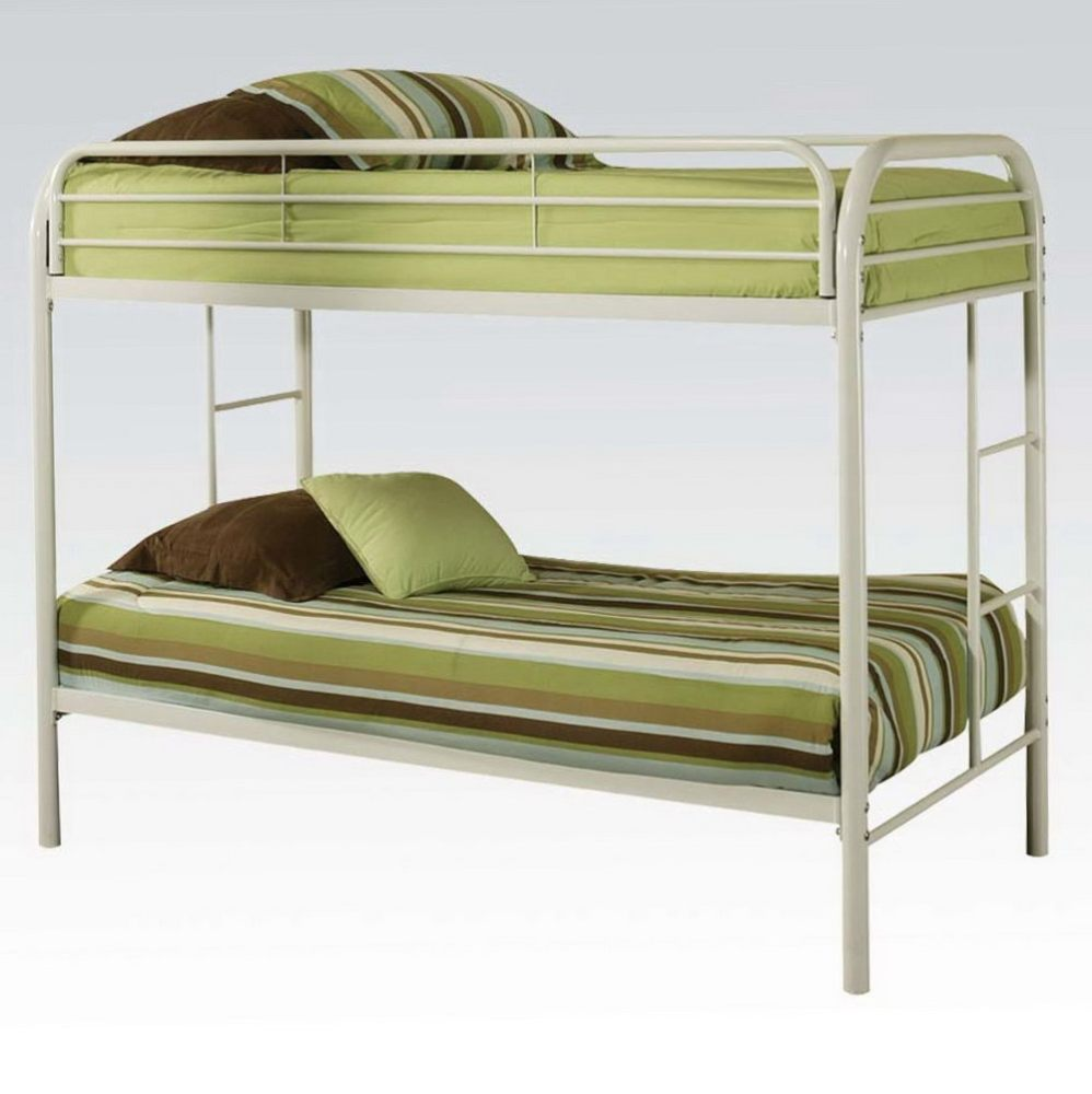 Metal Frame Bunk Beds Twin Over Twin