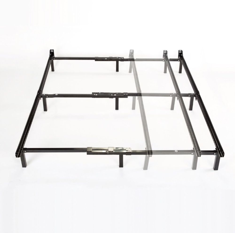 Metal Queen Size Bed Frame Center Support