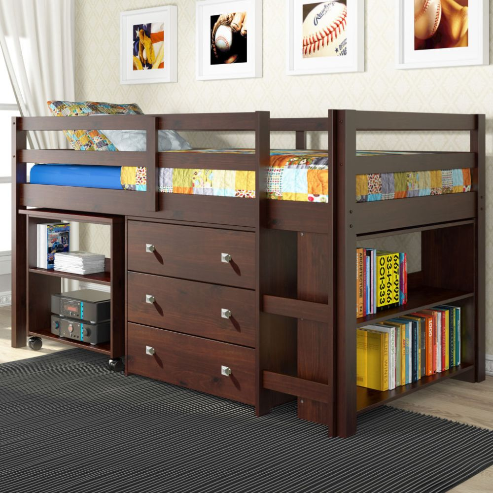 Metal Twin Loft Bed Frame