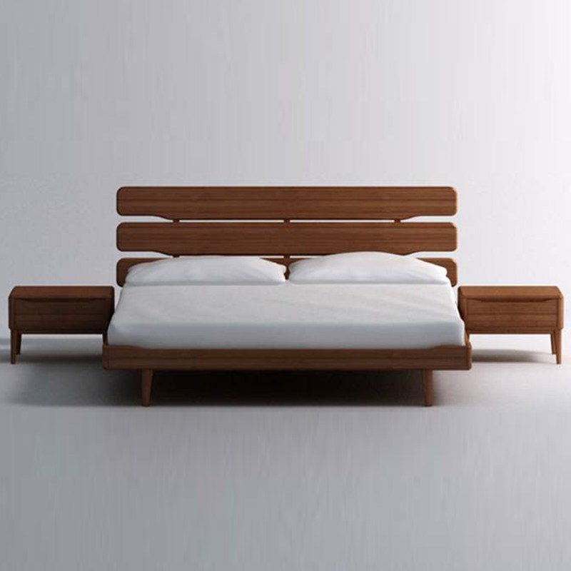 Mid Century Modern Wood Bed Frame