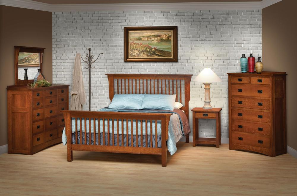 Mission Style Full Bed Frame