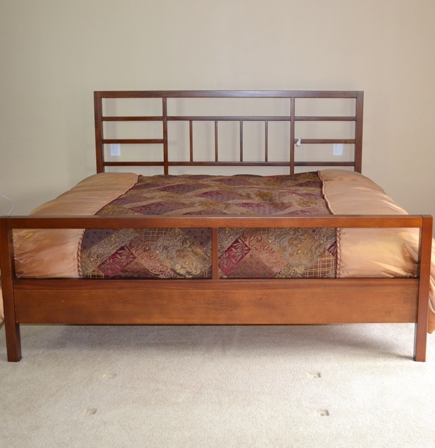 Mission Style King Size Bed Frame
