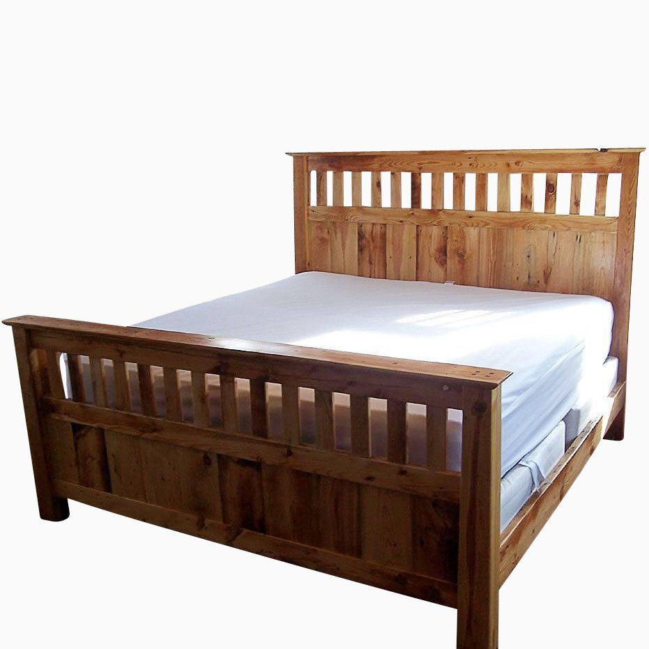 Mission Style Wood Bed Frame