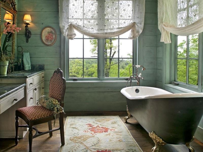 Modern Bathroom Curtain Ideas