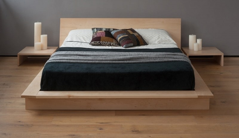 Modern Low Platform Bed Frame