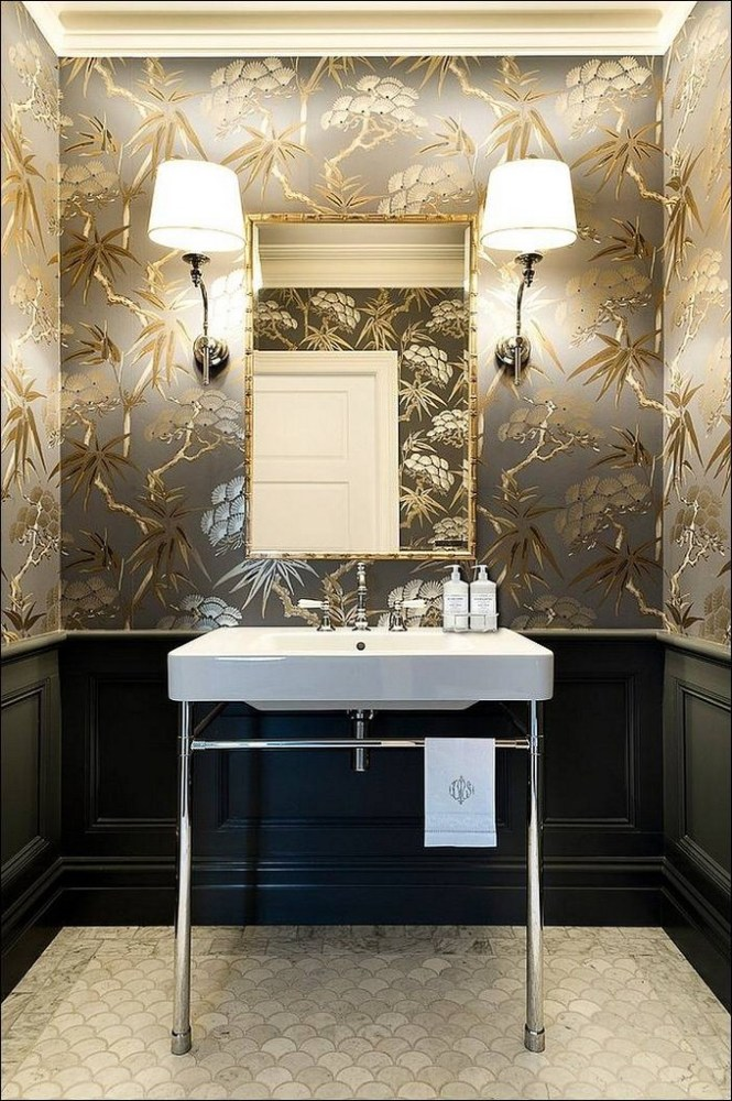 Modern Wallpaper Ideas For Bathroom