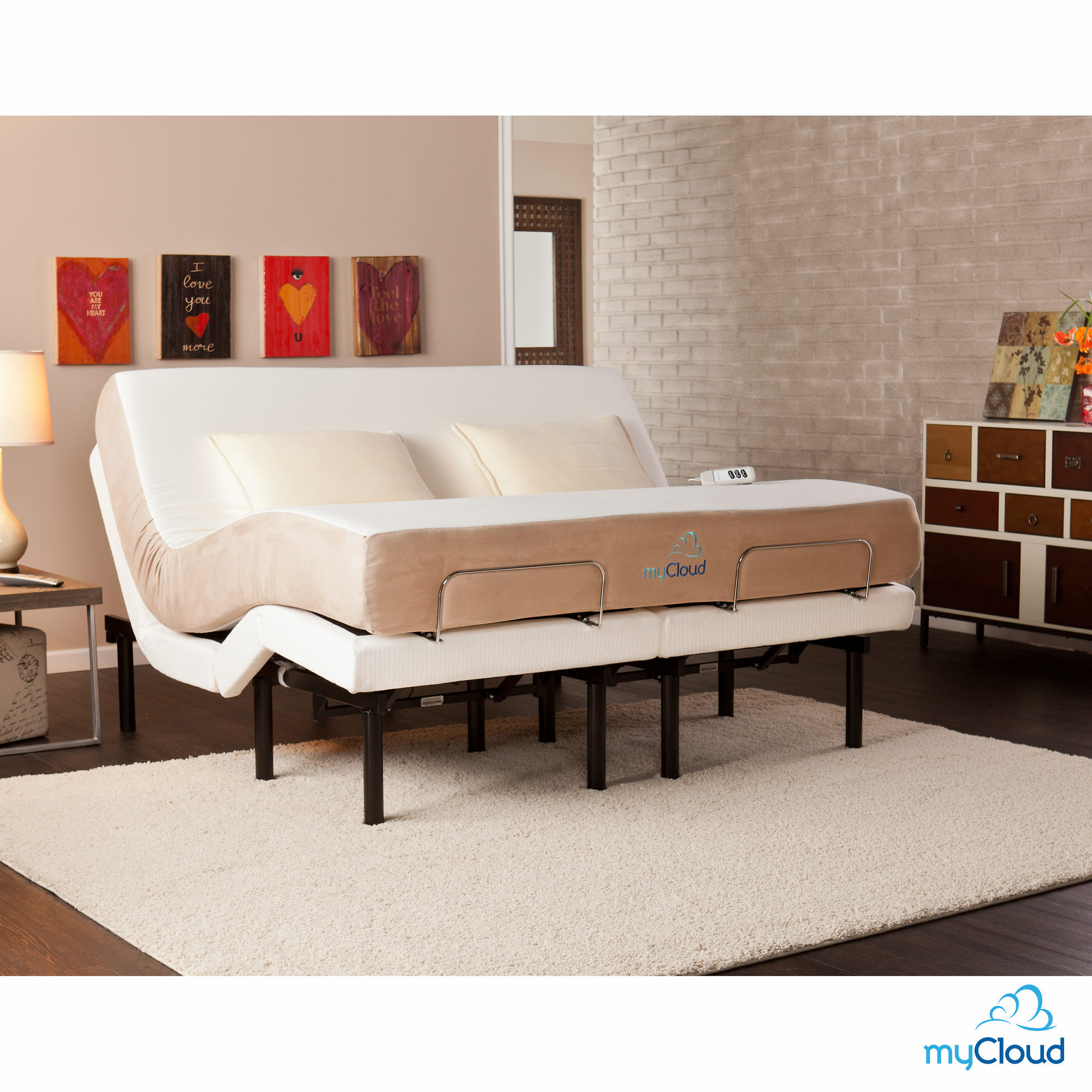 Mycloud Adjustable King Bed Frame
