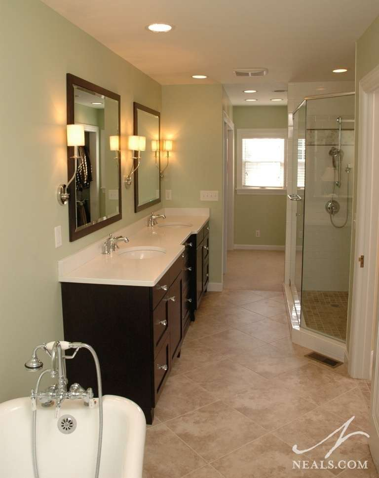 Narrow Master Bathroom Ideas
