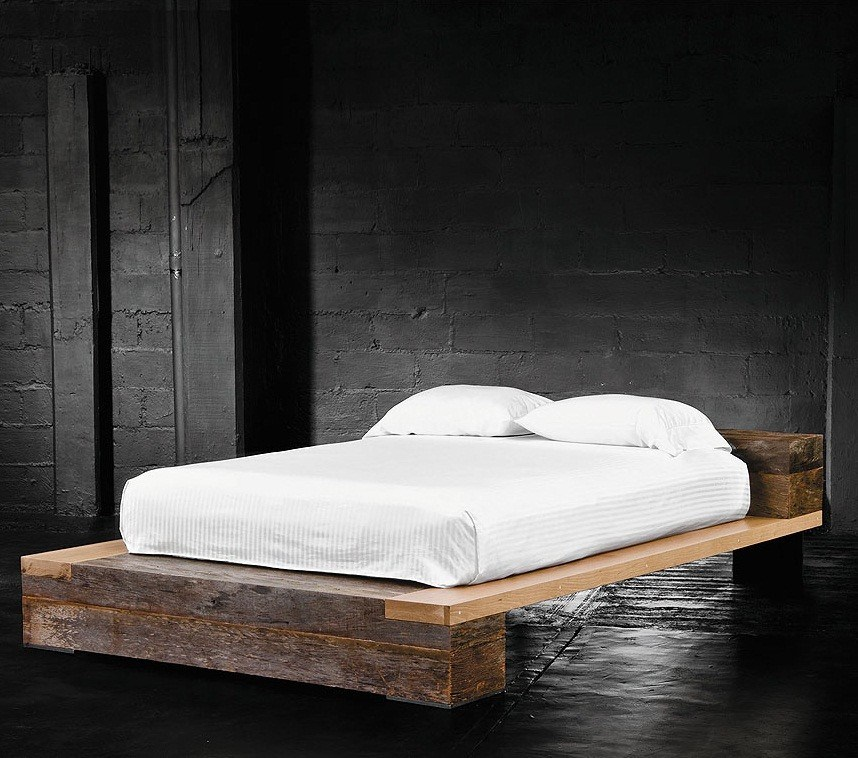 Natural Wood Bed Frame Twin