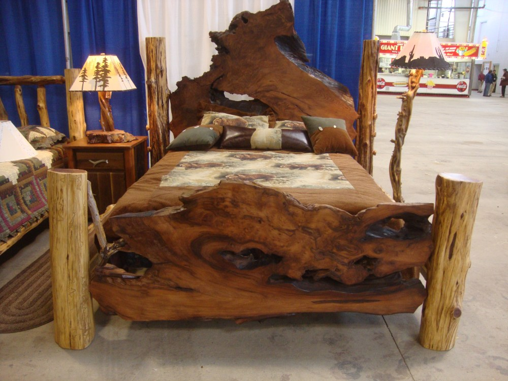 Natural Wood Queen Bed Frame