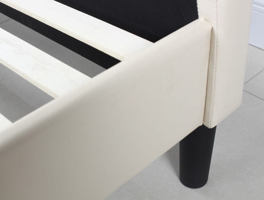 Off White Platform Bed Frame