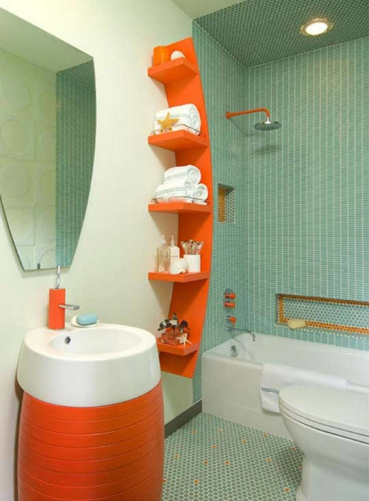 Orange And Blue Bathroom Ideas