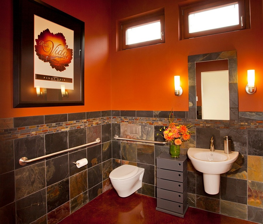 Orange And Grey Bathroom Ideas