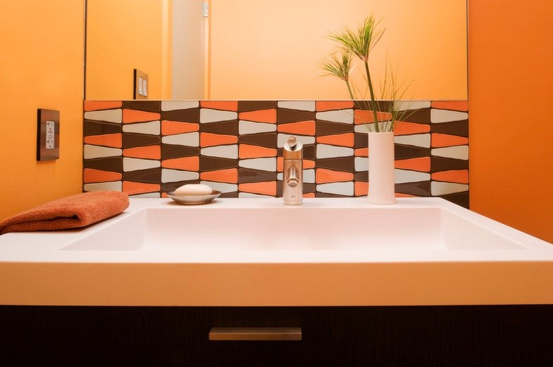 Orange Bathroom Tile Ideas