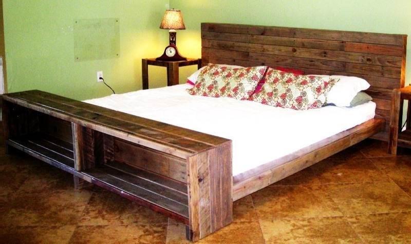 Pallet Bed Frame With Led Lights